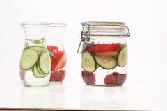 Zdrowa detox woda z owoc Obrazy Stock