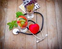 Zdrowa dieta i nadprogramy fotografia stock