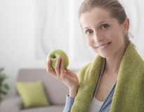 Zdrowa dieta i sprawność fizyczna Fotografia Royalty Free