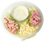 Zdrowa fasta food szefa kuchni sałatka w Carryout pucharze obraz stock