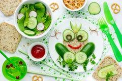 Zdrowa kanapka dla dzieciaków, żaby kanapka Obraz Royalty Free