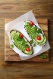 Zdrowa kanapka z avocado Fotografia Royalty Free