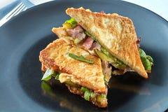 Zdrowa kanapka z bekonem Obrazy Royalty Free