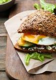 Zdrowa kanapka z jajkami Zdjęcie Stock