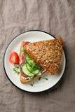 Zdrowa kanapka z ogórkami Fotografia Royalty Free
