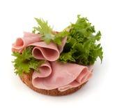 Zdrowa kanapka z warzywem i uwędzonym baleronem Zdjęcia Royalty Free