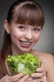 zdrowa karmowa dziewczyna Zdjęcie Stock