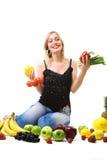 zdrowa odżywiania warzyw kobieta Zdjęcia Royalty Free