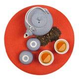 zdrowa orientalna ustalona herbata Fotografia Stock