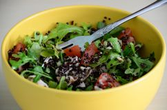 Zdrowa Quinoa sałatka dla lunchu Obrazy Royalty Free
