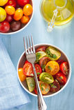 Zdrowa sałatka z kolorowymi pomidorami Obraz Stock