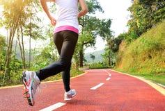 Zdrowa styl życia sprawność fizyczna bawi się kobieta bieg Fotografia Royalty Free