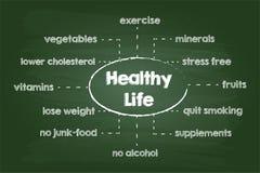 Zdrowa styl życia mapa Zdjęcie Stock