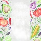 Zdrowe jedzenie granicy Obrazy Stock