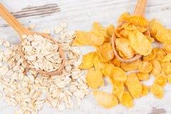 Zdrowe karmowe zawiera kopaliny, węglowodany i żywienioniowy włókno, odżywczy łasowania pojęcie Zdjęcia Royalty Free
