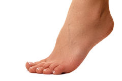 Zdrowe kobiet nogi nogi white Piękna kobieta le Obraz Stock