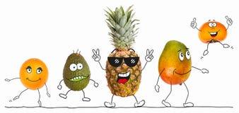 Zdrowe organicznie owoc 3, ilustrować postacie ilustracja wektor