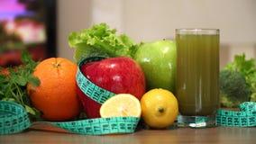 Zdrowe owoc i diety pojęcie zdjęcie wideo