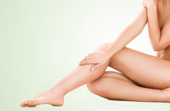 Zdrowe piękne kobiet nogi obraz royalty free