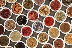 Zdrowe Zielarskie herbaty Fotografia Royalty Free
