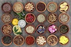 Zdrowe Zielarskie herbaty Fotografia Stock