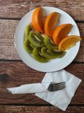 Zdrowego jedzenia pestycydu bezpłatna owoc fotografia stock
