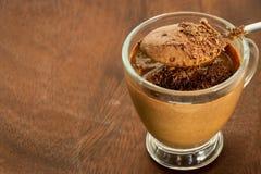 Zdrowego paleo jogurtu czekoladowy deser Być może zdjęcia royalty free