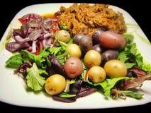 Zdrowego posiłku lunchu mięsa veggies warzyw ciężaru straty obiadowa pomoc Obrazy Royalty Free