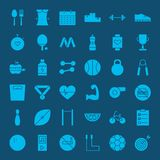 Zdrowego stylu życia sieci Stałe ikony Zdjęcia Stock