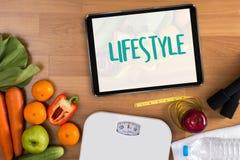 Zdrowego stylu życia webpage onlinego chłodno łasowania zdrowy jedzenie Inwestuje Fotografia Royalty Free