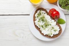 Zdrowego wiosny lata niskotłuszczowy śniadanie Zdjęcie Royalty Free