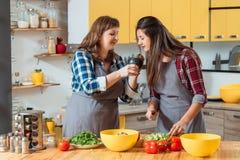 Zdrowej diety jarski rodzinny kulinarny hobby obraz stock