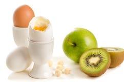 Zdrowi śniadaniowi składniki Zdjęcie Royalty Free