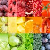 Zdrowi świezi owoc i warzywo tła Zdjęcia Stock