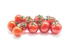 Zdrowi Czereśniowi pomidory na białym tle Fotografia Stock