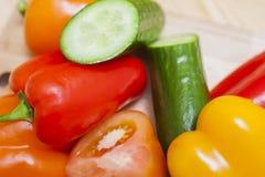 Zdrowi i Apetyczni warzywa Umieszczająca masa Wpólnie Zdjęcie Royalty Free