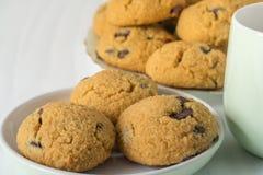 Zdrowi Kokosowi mąk ciastka Fotografia Stock