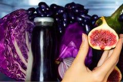 Zdrowi kolorowi lat warzywa, owoc i fotografia stock