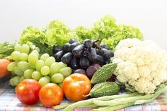 Zdrowi organicznie warzywa i owoc Obraz Stock