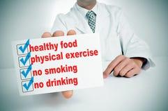 Zdrowi przyzwyczajenia zdjęcie stock