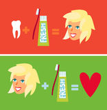 zdrowi ustaleni zęby Fotografia Stock