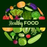 zdrowi warzywa i jarski jedzenie Zdjęcia Stock