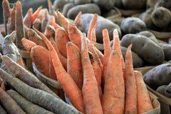 Zdrowi warzywa przy miejscowego rynkiem Fotografia Stock