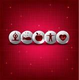 Zdrowi żywi symbole Obraz Royalty Free