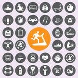 Zdrowia andFitness ikony set Vector/EPS10 royalty ilustracja