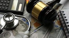 Zdrowia expence i sprawiedliwości pojęcie zdjęcie wideo