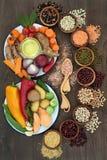 Zdrowia jedzenia Sampler Obraz Royalty Free