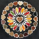 Zdrowia jedzenie dla Zdrowego serca Zdjęcie Stock