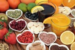 Zdrowia jedzenie dla Zimnego lekarstwa obraz royalty free