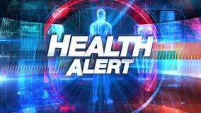 Zdrowia ostrzeżenie - Wyemitowana TV tytułu grafika royalty ilustracja